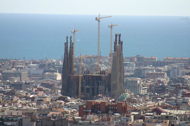 Sagrada Familia from Park Güell