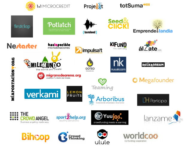 Crowdfunding platforms in Catalonia (as of July 2013)